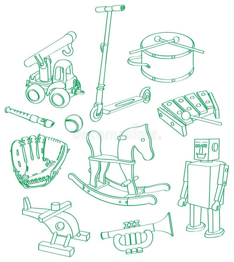 Download Muchacho-juguete-juego ilustración del vector. Imagen de xilófono - 24116034