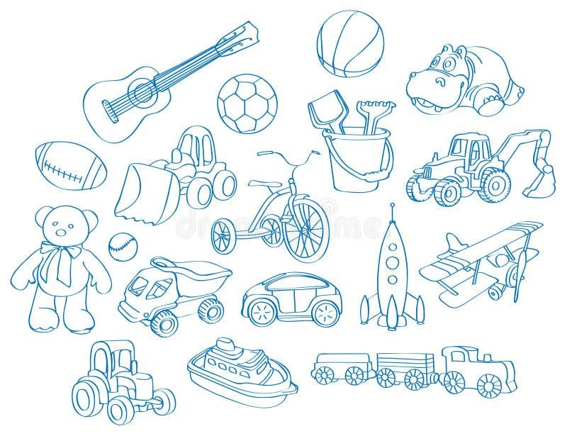 Muchacho-juguetes stock de ilustración
