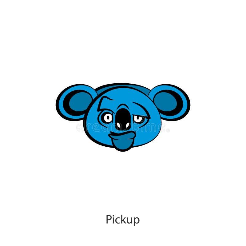 Muchacho principal divertido del color de la koala libre illustration