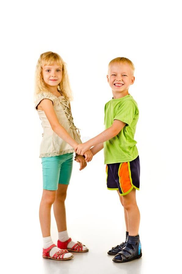 Muchacho y muchacha foto de archivo libre de regalías