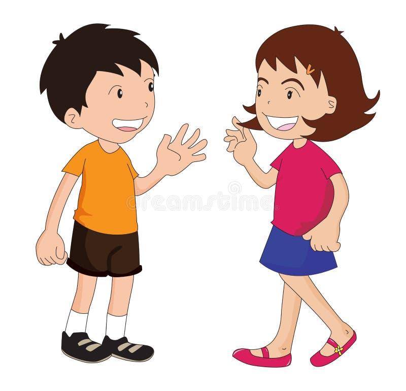 Muchacho y muchacha ilustración del vector