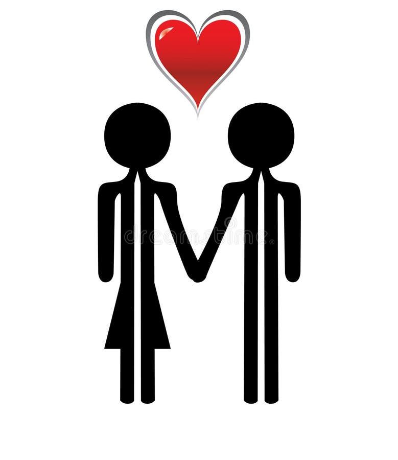 Muchacho y muchacha del amor ilustración del vector