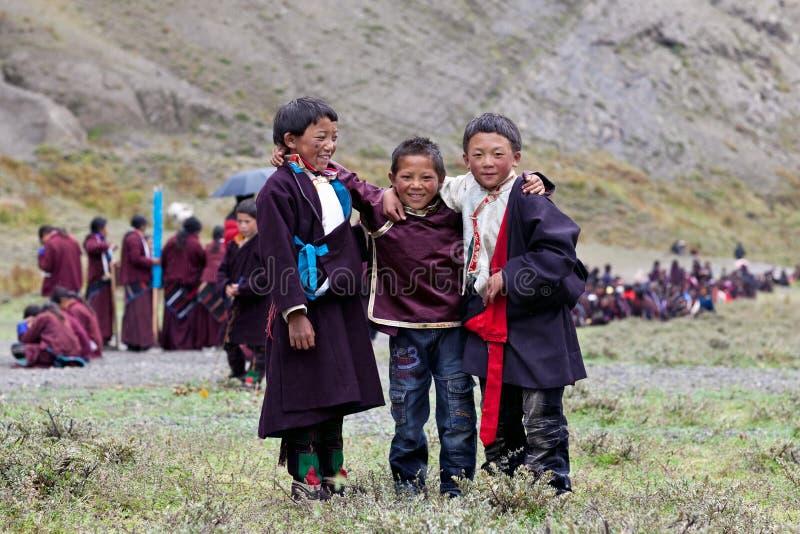 Muchachos tibetanos foto de archivo libre de regalías