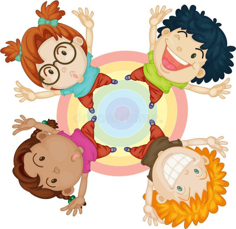Muchachos y muchachas en el círculo libre illustration