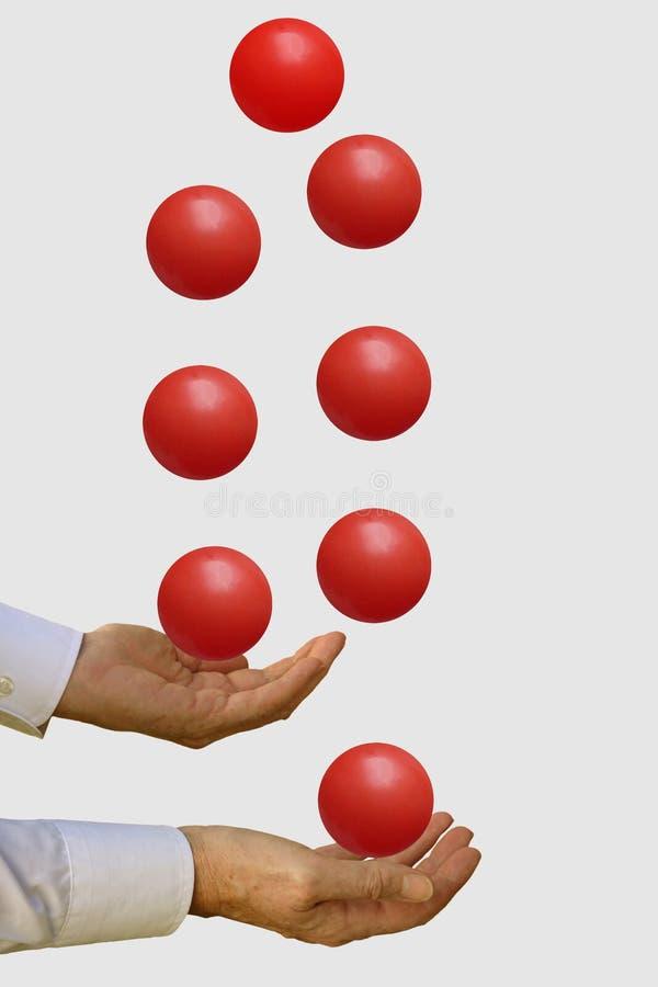Muchas bolas en el aire imagen de archivo libre de regalías