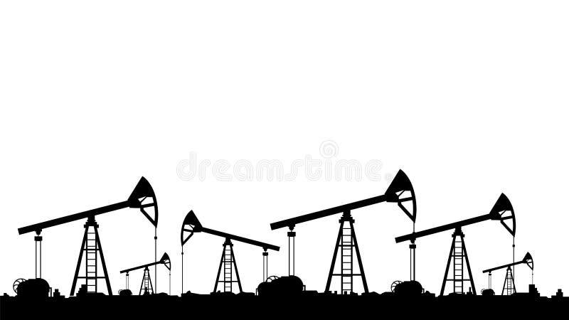 muchas bombas de aceite colocan stock de ilustración