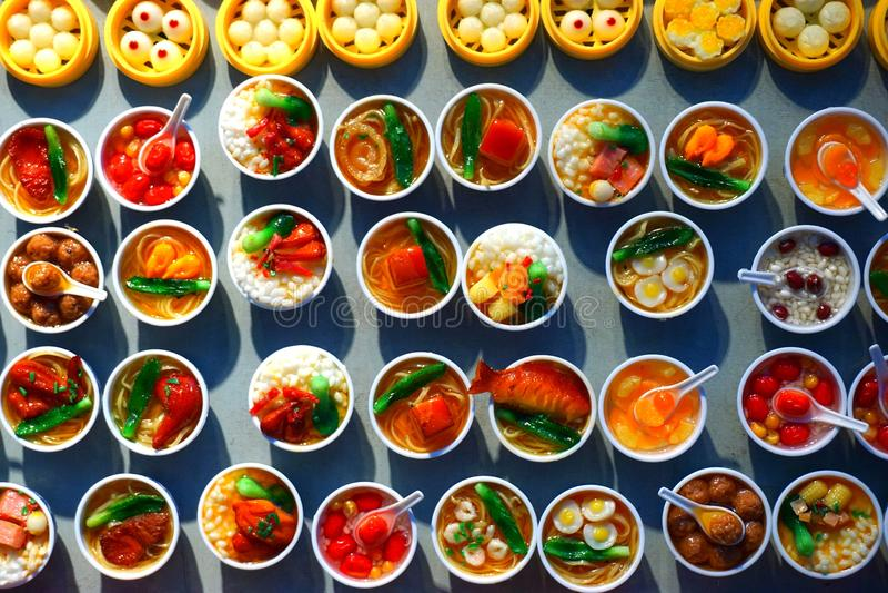 Muchas clases de platos chinos foto de archivo libre de regalías