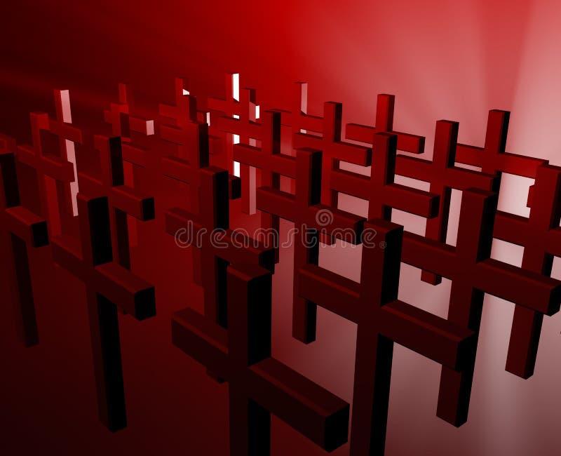 Muchas cruces del cristiano libre illustration