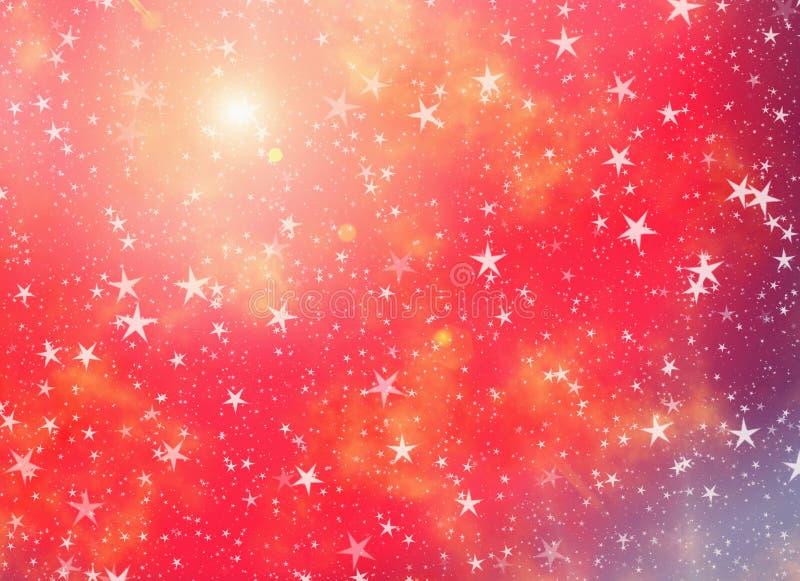 Muchas estrellas en fondos soñadores de un cielo ilustración del vector