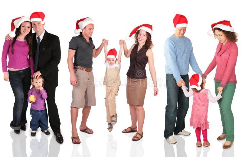 Muchas familias de la Navidad foto de archivo libre de regalías