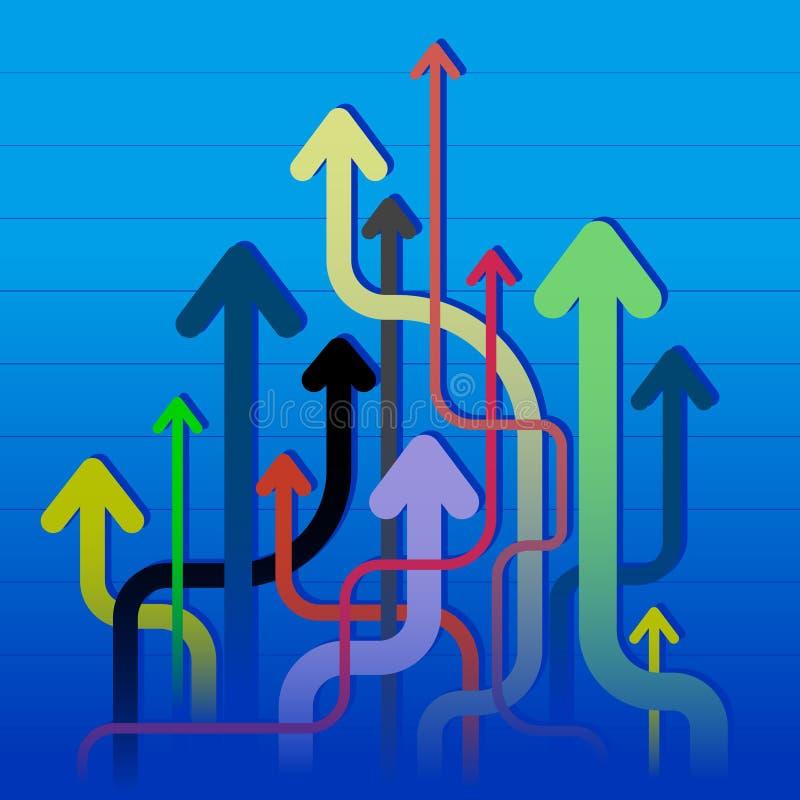 Muchas flechas stock de ilustración