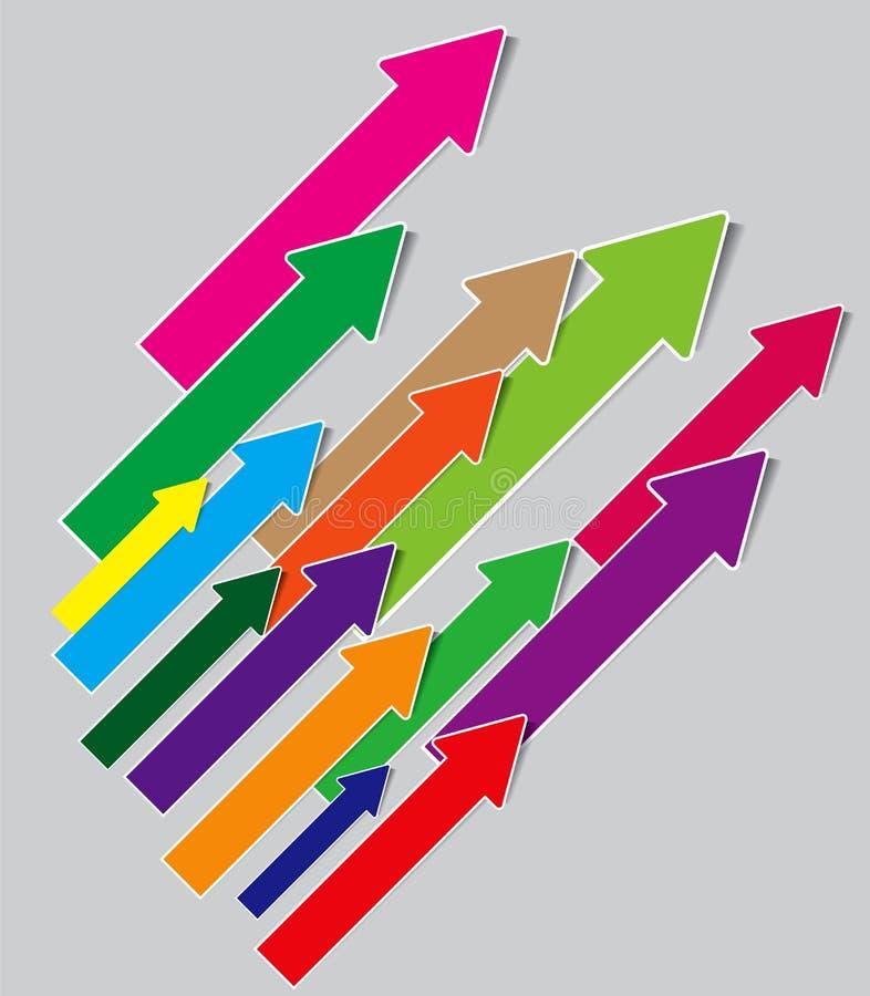 Muchas flechas ilustración del vector