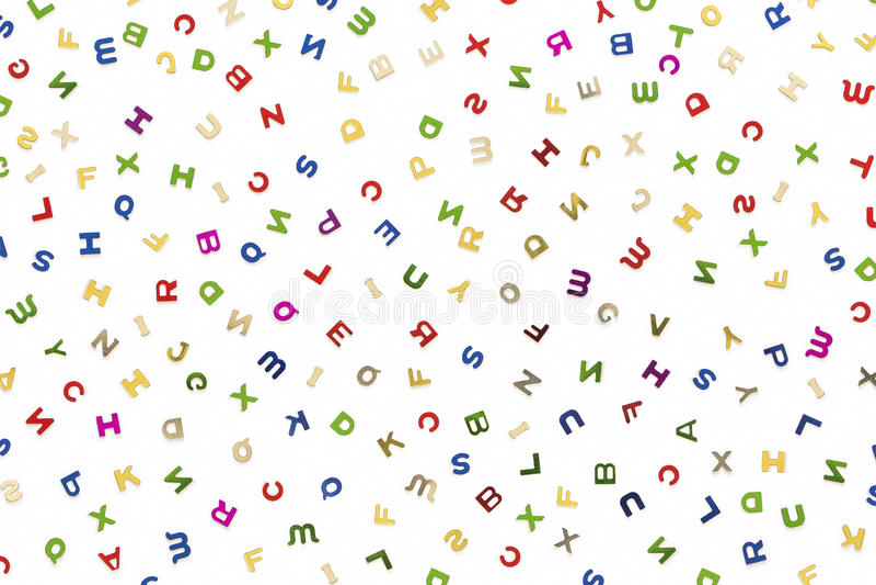 Muchas letras de diversos colores libre illustration