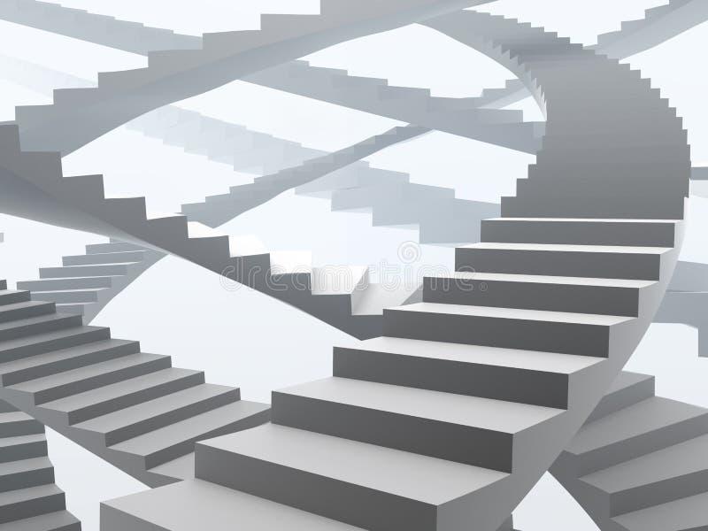 Muchas maneras posibles de crecimiento y de éxito stock de ilustración