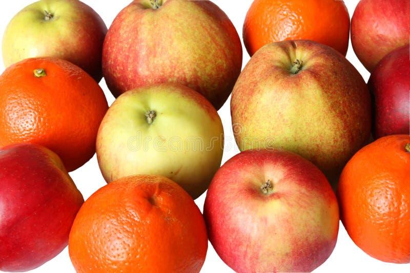 Muchas manzanas y naranjas fotos de archivo libres de regalías