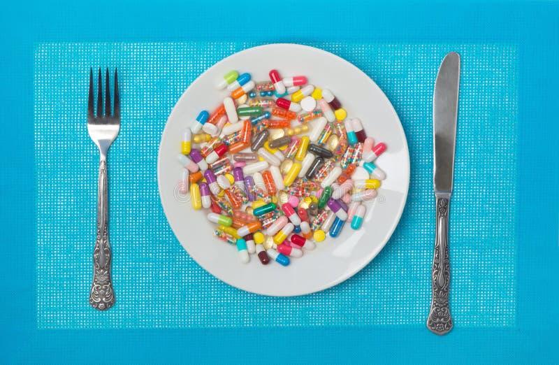 Muchas medicinas fotos de archivo libres de regalías