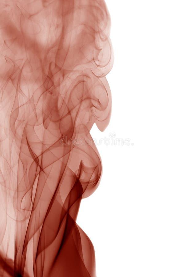Muchas ondas rojas del humo foto de archivo libre de regalías