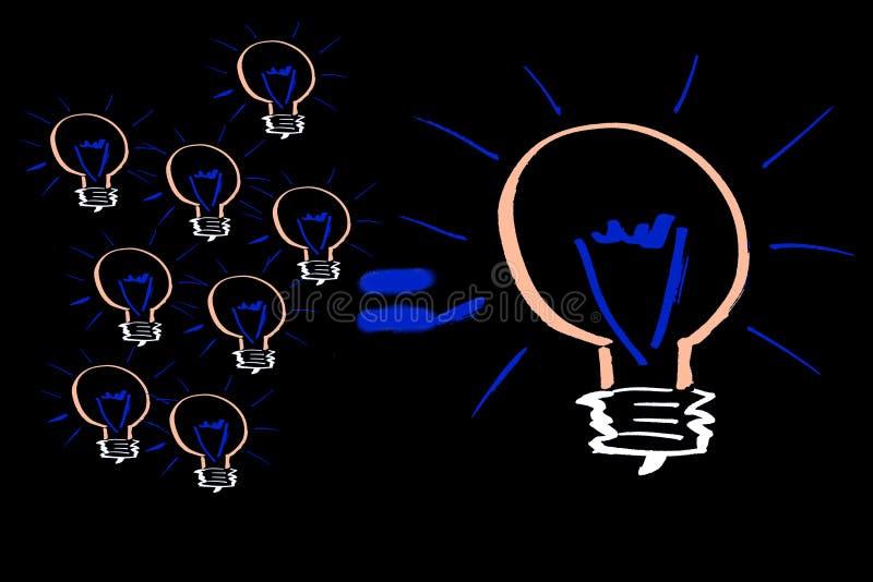 Muchas pequeñas ideas hacen grande. stock de ilustración
