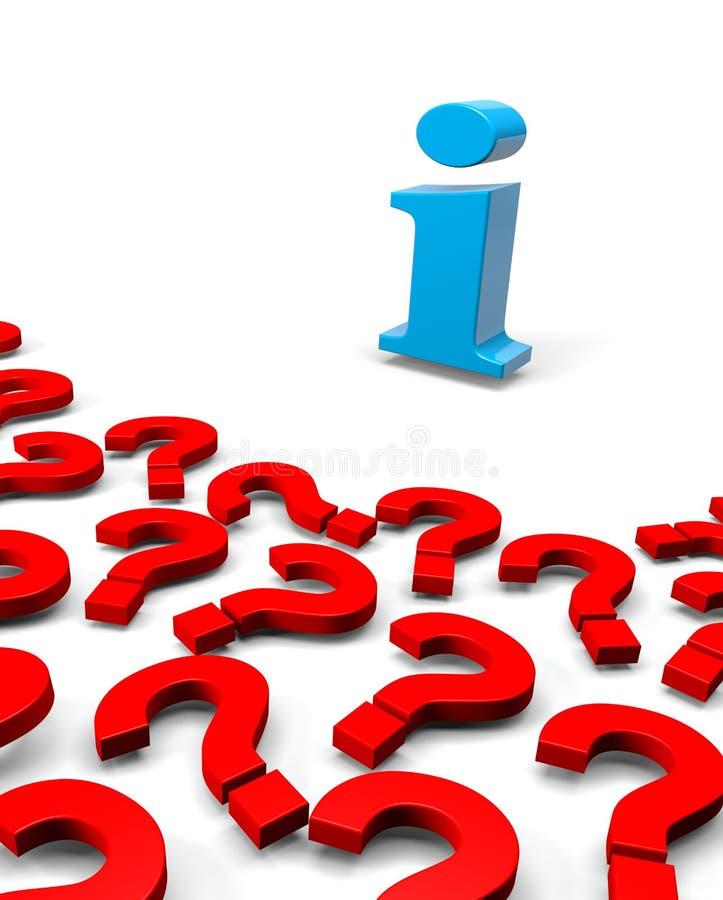 Muchas preguntas, una información stock de ilustración