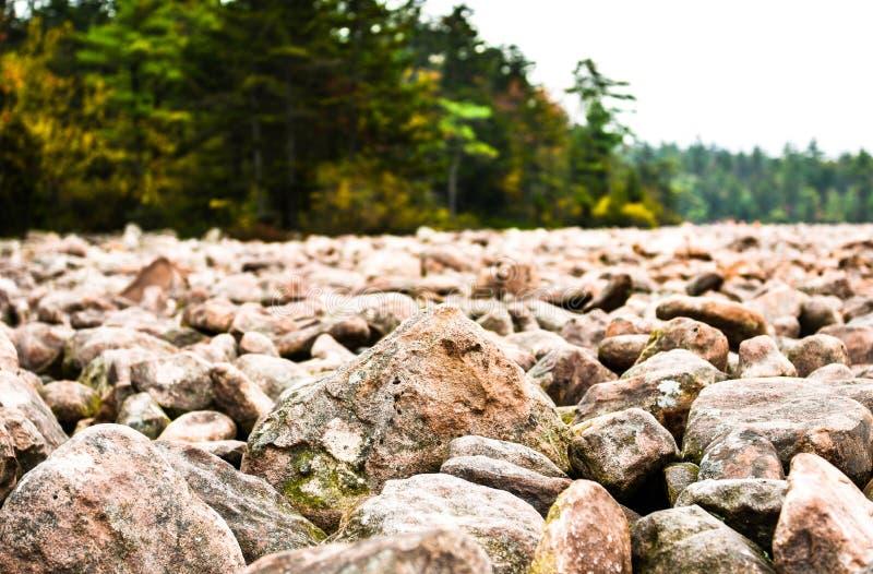 Muchas rocas en Pocono imágenes de archivo libres de regalías