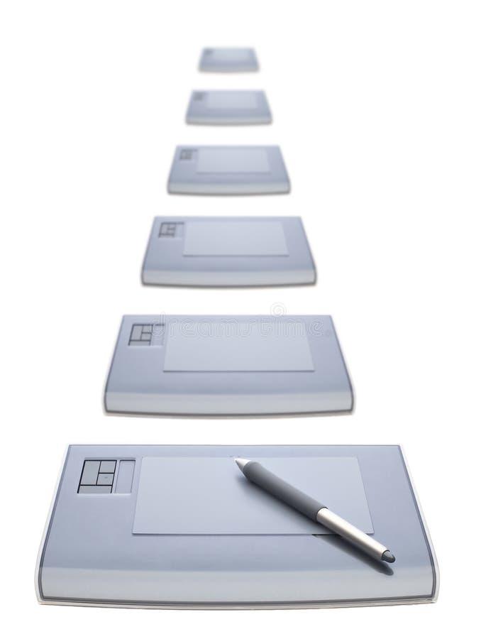 Muchas tablillas gráficas imagen de archivo
