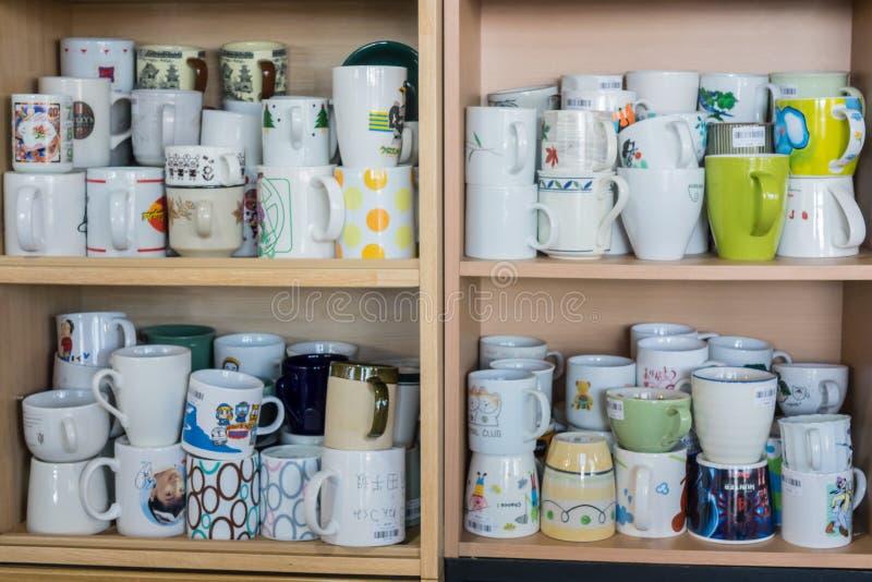 Muchas tazas de café fotos de archivo libres de regalías