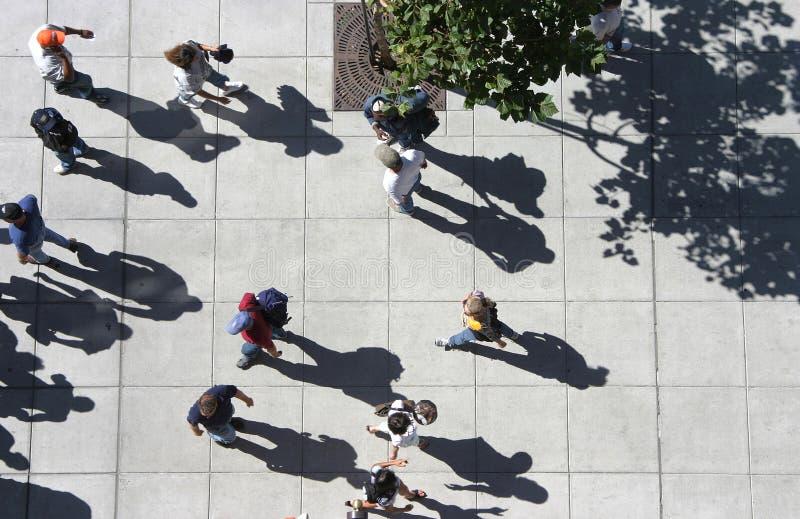 Muchedumbre de arriba foto de archivo libre de regalías