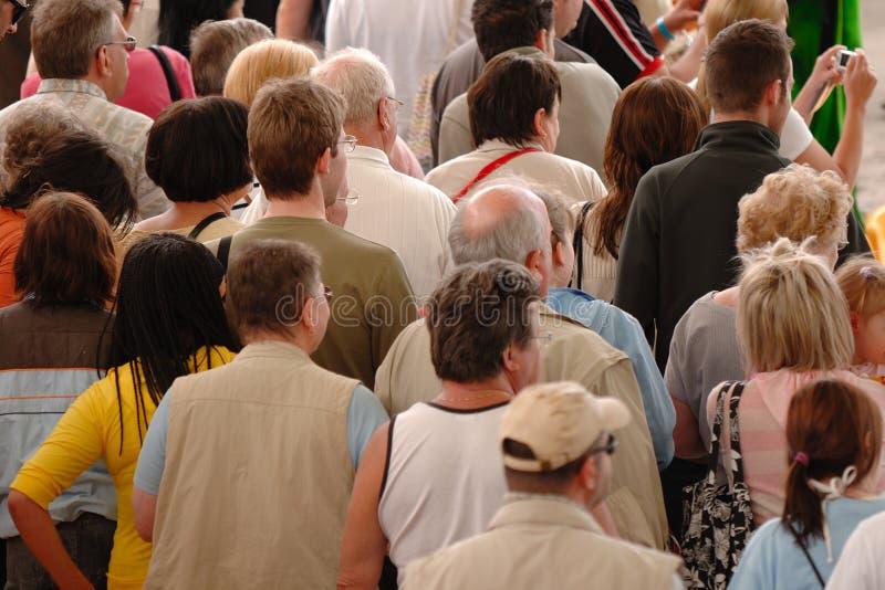 Muchedumbre de gente imagen de archivo libre de regalías