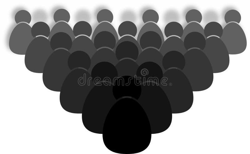 Muchedumbre de icono de la gente ilustración del vector