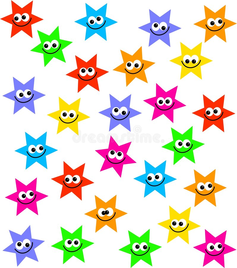 Muchedumbre de la estrella stock de ilustración