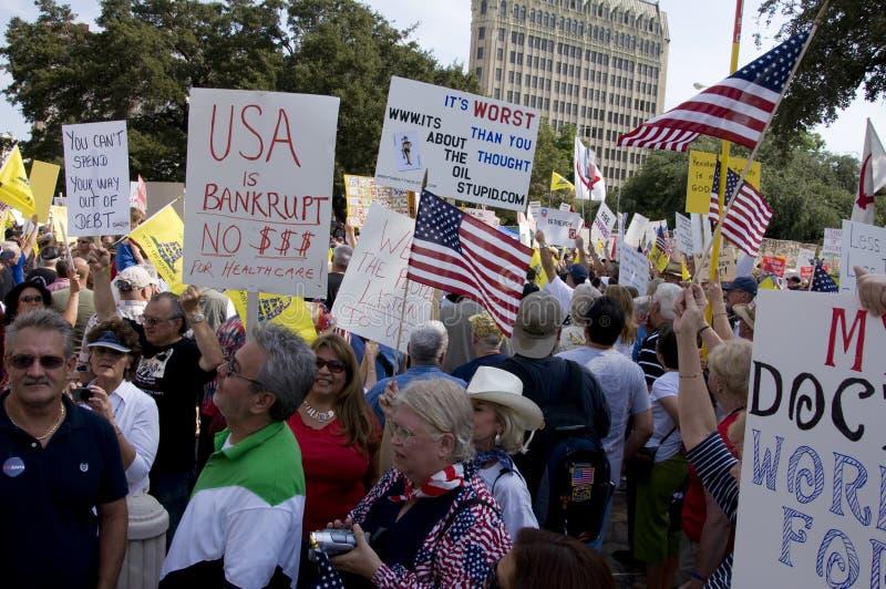 Muchedumbre de la protesta imágenes de archivo libres de regalías