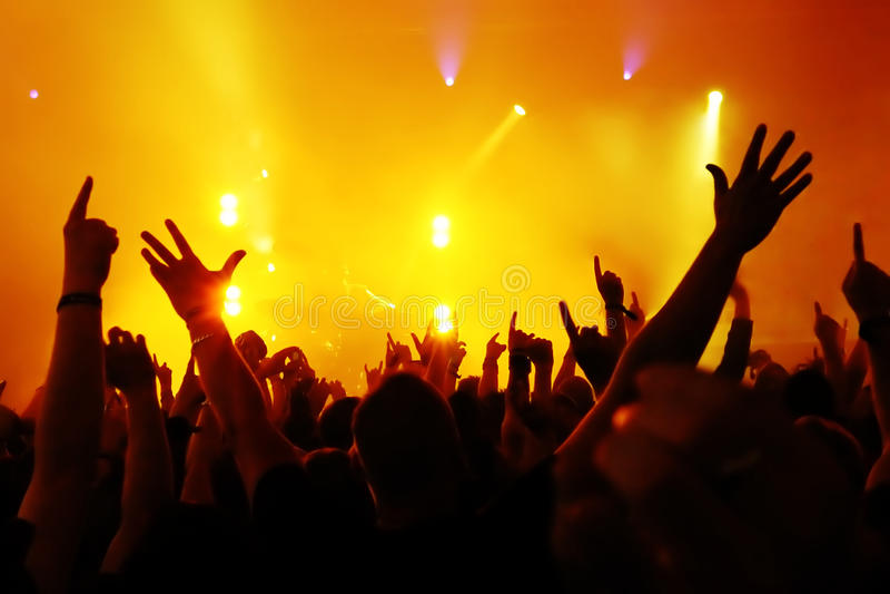 Muchedumbre del concierto foto de archivo libre de regalías