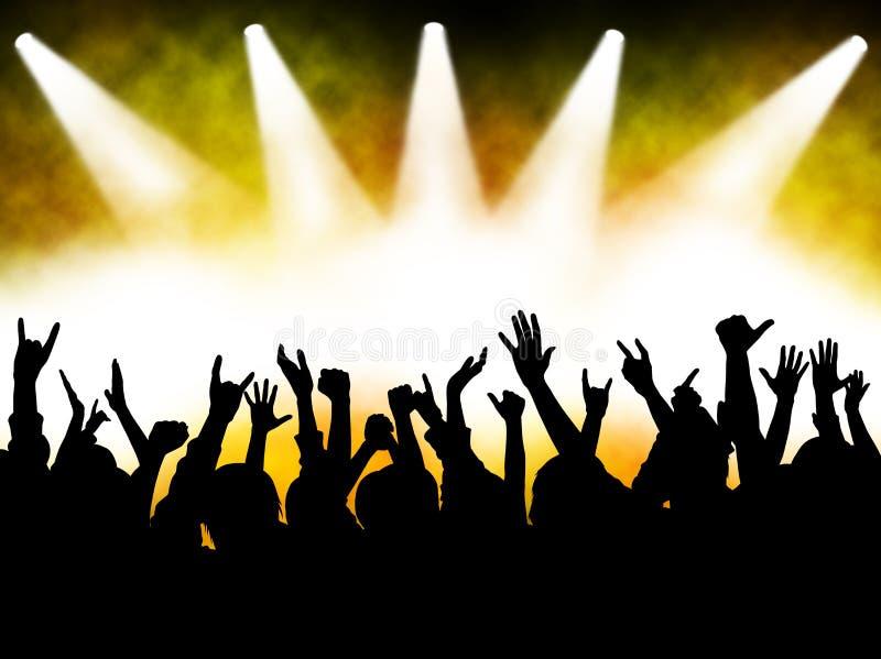 Muchedumbre del concierto stock de ilustración