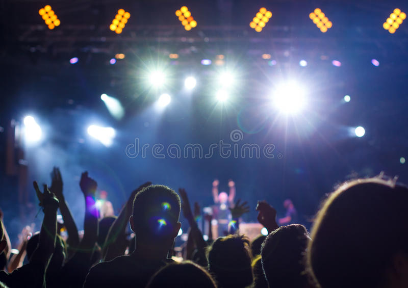 Muchedumbre del concierto fotografía de archivo libre de regalías