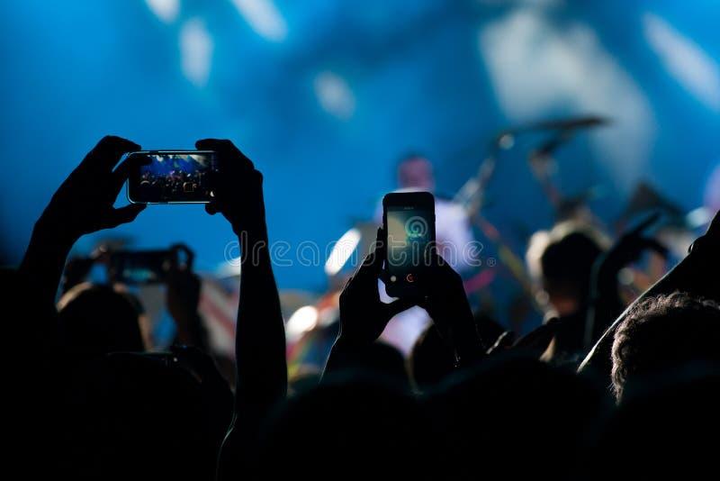 Muchedumbre del concierto imagen de archivo