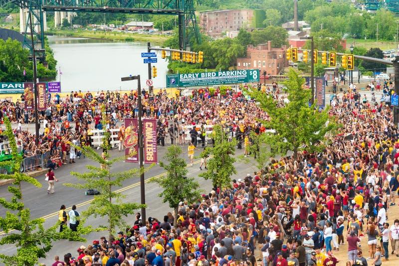 Muchedumbre del desfile fotografía de archivo libre de regalías