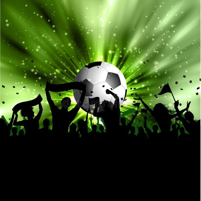 Muchedumbre del fútbol libre illustration