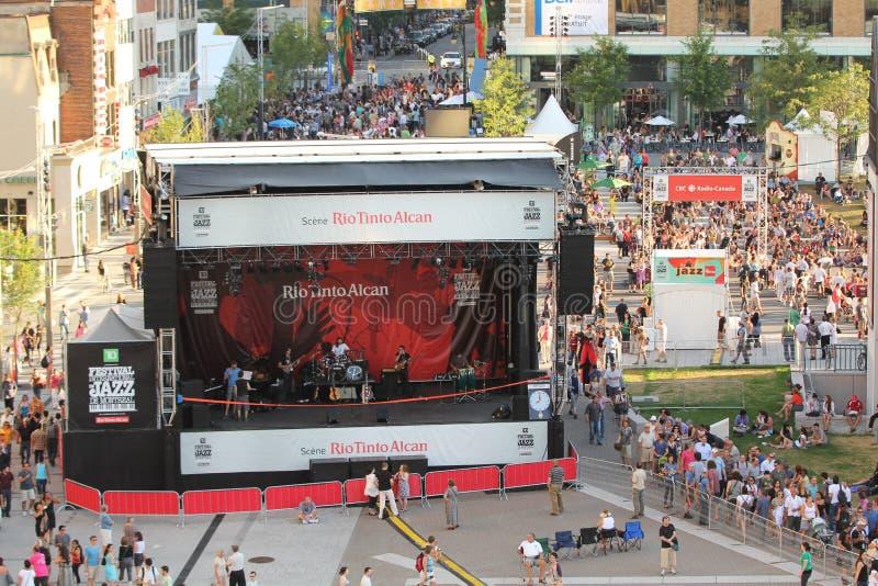 Muchedumbre del festival de jazz en Montreal fotos de archivo libres de regalías