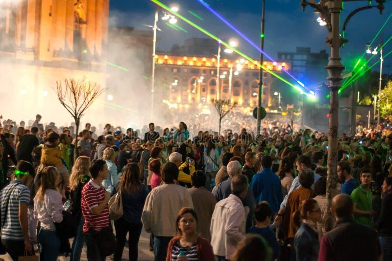 Muchedumbre en Bucarest fotografía de archivo libre de regalías
