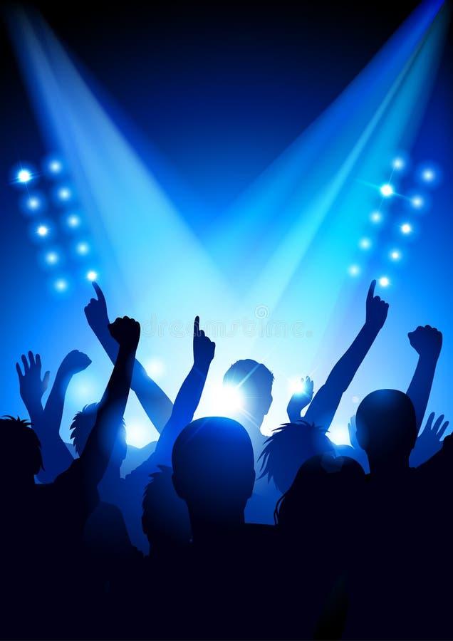 Muchedumbre en un concierto libre illustration