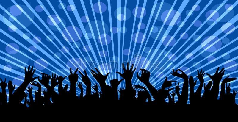 Muchedumbre en un concierto imagen de archivo libre de regalías