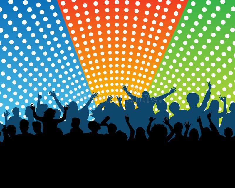 Muchedumbre en un concierto ilustración del vector