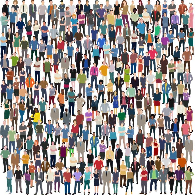 Muchedumbre enorme de gente ilustración del vector