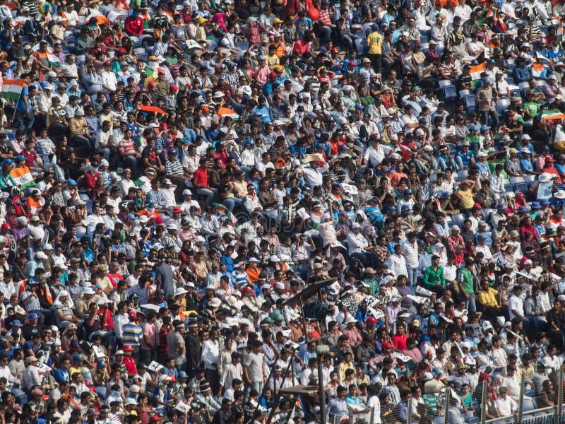 Muchedumbre la India del grillo fotografía de archivo