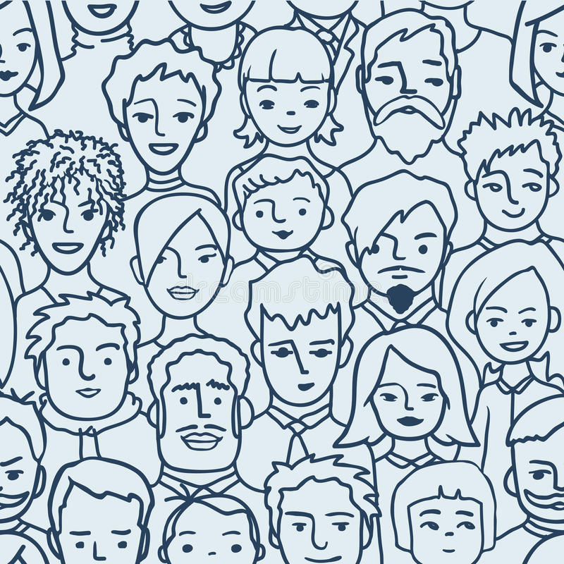 Muchedumbre, modelo inconsútil de las personas diversas libre illustration