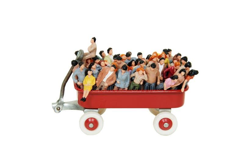 Muchedumbres que son transportadas imagenes de archivo