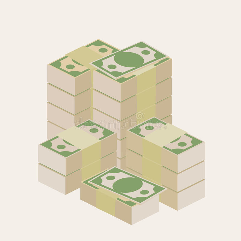 Mucho dinero stock de ilustración