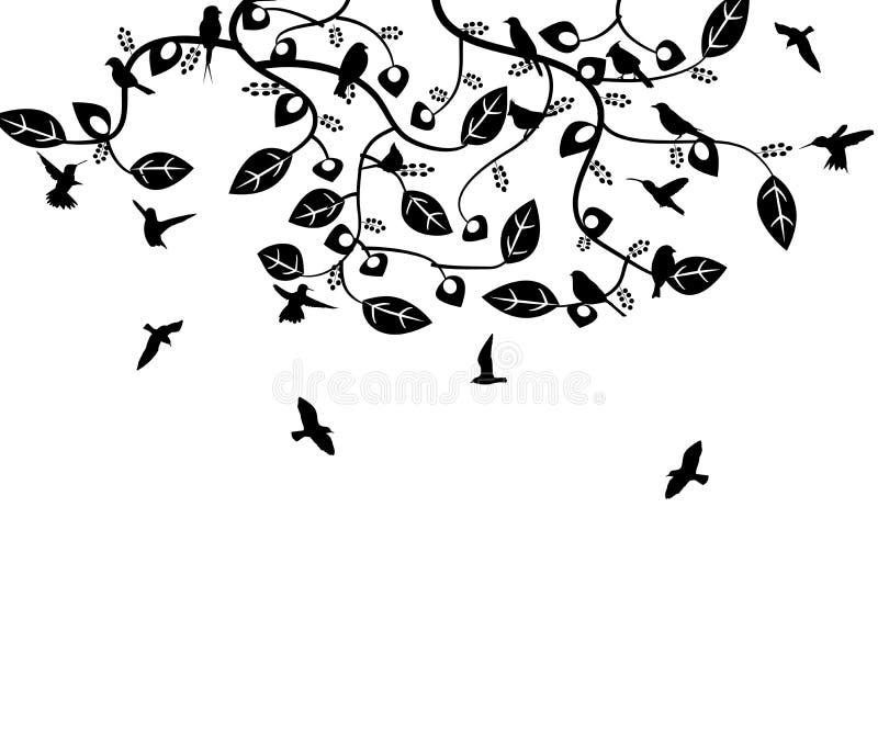 Mucho pájaro stock de ilustración