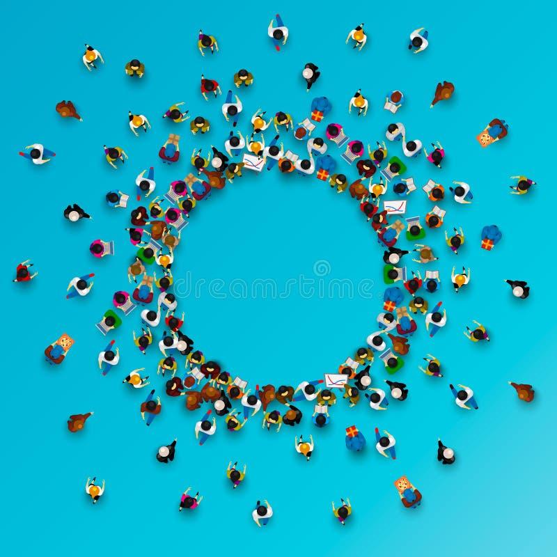Mucho soporte de la gente en un círculo libre illustration