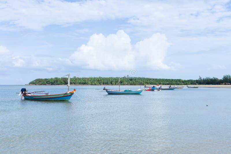 Muchos barcos de pesca foto de archivo libre de regalías